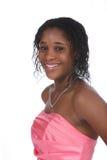 Retrato principal del vestido y de los hombros rosado Fotografía de archivo libre de regalías