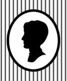 Retrato principal masculino em um quadro na silhueta do perfil da parede, vetor Imagem de Stock