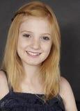 Retrato principal rojo adolescente Fotografía de archivo