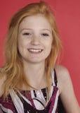 Retrato principal rojo adolescente Foto de archivo libre de regalías