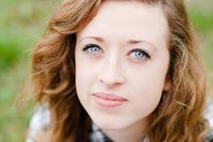 Retrato principal sonriente del tiro del adolescente Fotografía de archivo