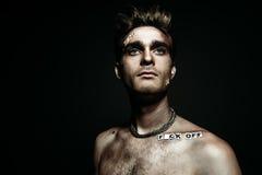 Retrato punk do homem imagem de stock