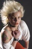 Retrato punky femenino del adolescente Fotografía de archivo