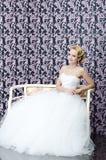 Retrato que se sienta integral de la novia Imagen de archivo