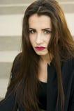 Retrato rebelde da menina imagem de stock
