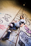 Retrato rebelde de la mujer Foto de archivo libre de regalías