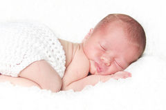 Retrato recién nacido del bebé Imagen de archivo
