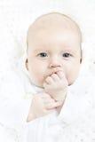 Retrato recién nacido del primer del bebé foto de archivo