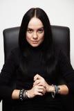 Retrato restrito da mulher fotografia de stock royalty free