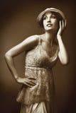 Retrato retro Imagem de Stock Royalty Free