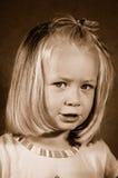 Retrato retro da criança Foto de Stock Royalty Free