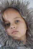 Retrato retro da menina bonita engraçada Imagem de Stock