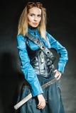 Retrato retro da menina de Steampunk fotos de stock royalty free