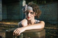 Retrato retro da mulher da forma Fotos de Stock