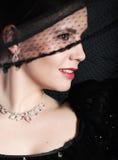 Retrato retro da senhora bonita Imagem de Stock Royalty Free