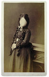 Retrato retro de uma menina Foto de Stock