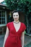 Retrato retro verde vermelho imagens de stock royalty free