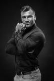 Retrato rico muscular del hombre de negocios Fotografía de archivo