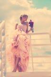 Retrato romántico de la novia Fotos de archivo