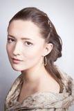 Retrato romántico de la señora joven Imagen de archivo