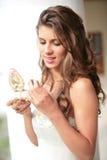 Retrato romántico de las novias Imágenes de archivo libres de regalías