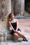 Retrato romántico de un adolescente hispánico bonito Fotos de archivo libres de regalías
