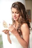 Retrato romântico das noivas Imagens de Stock Royalty Free
