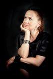 Retrato romântico de uma mulher fotografia de stock royalty free