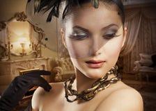 Retrato romántico de la belleza Foto de archivo libre de regalías