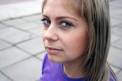 Retrato rubio fotografía de archivo