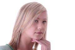 Retrato rubio adolescente de la muchacha Fotografía de archivo libre de regalías