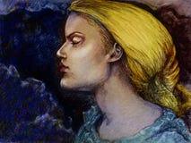 Retrato rubio de la mujer Imagenes de archivo