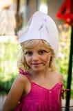 Retrato rubio hermoso de la muchacha Foto de archivo