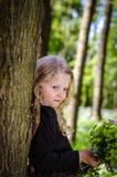 Retrato rubio precioso de la muchacha Imagen de archivo
