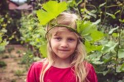 Retrato rubio precioso de la muchacha Fotografía de archivo
