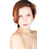 Retrato sério da mulher da beleza Imagens de Stock Royalty Free
