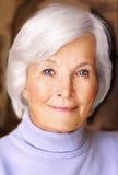 Retrato sênior bonito da mulher Foto de Stock Royalty Free