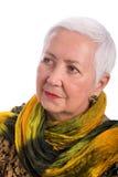 Retrato sênior da mulher Fotografia de Stock Royalty Free