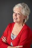 Retrato sênior do estúdio da mulher Foto de Stock Royalty Free