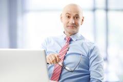 Retrato sênior do homem de negócios Fotografia de Stock