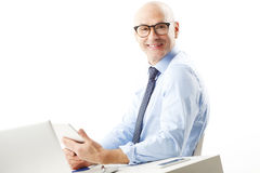 Retrato sênior do homem de negócios Fotos de Stock