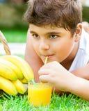 Retrato sano feliz del muchacho Imagen de archivo