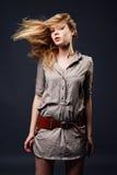 Retrato sedutor da forma da mulher nova Imagens de Stock
