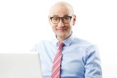 Retrato seguro do homem superior Imagens de Stock