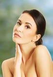 Retrato sensual da mulher do nude Foto de Stock Royalty Free