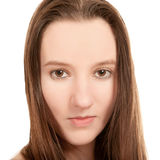 Retrato sensual do close up da mulher nova 'sexy' Imagens de Stock