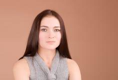 Retrato serio de la mujer Imagenes de archivo