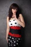 Retrato 'sexy' da mulher. Imagem de Stock Royalty Free
