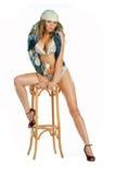 Retrato 'sexy' da mulher do encanto foto de stock royalty free