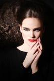 Cara bonita do retrato 'sexy' da mulher fotos de stock royalty free